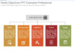 Media Objectives Ppt Examples Professional
