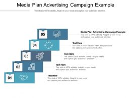 Media Plan Advertising Campaign Example Ppt Powerpoint Presentation Layouts Guide Cpb