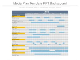 Media Plan Template Ppt Background