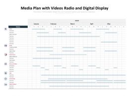 Media Plan With Videos Radio And Digital Display