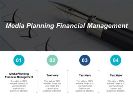 Media Planning Financial Management Ppt Powerpoint Presentation Slides Structure Cpb
