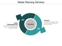 Media Planning Services Ppt Powerpoint Presentation Professional Design Ideas Cpb