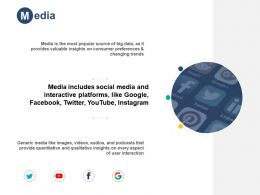 Media Platforms H23 Ppt Powerpoint Presentation Pictures Graphic Images