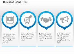 media_player_target_board_business_deal_megaphone_ppt_icons_graphics_Slide01