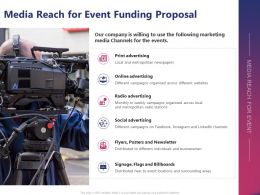Media Reach For Event Funding Proposal Ppt Powerpoint Presentation Ideas Portrait