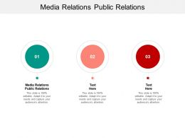 Media Relations Public Relations Ppt Powerpoint Presentation File Styles Cpb
