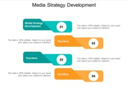 Media Strategy Development Ppt Powerpoint Presentation Professional Good Cpb