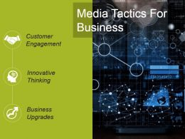 Media Tactics For Business Powerpoint Slide Designs