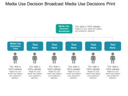 Media Use Decision Broadcast Media Use Decisions Print