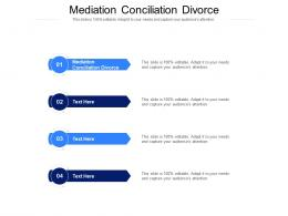 Mediation Conciliation Divorce Ppt Powerpoint Presentation Infographic Template Brochure Cpb