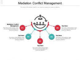 Mediation Conflict Management Ppt Powerpoint Presentation File Design Templates Cpb