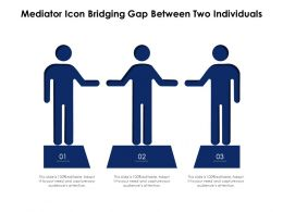 Mediator Icon Bridging Gap Between Two Individuals