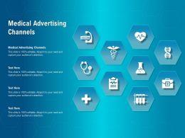 Medical Advertising Channels Ppt Powerpoint Presentation Outline Skills