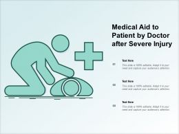 Medical Aid To Patient By Doctor After Severe Injury