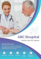 Medical And Health Services Two Page Brochure Template