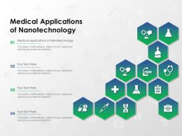 Medical Applications Of Nanotechnology Ppt Powerpoint Presentation Infographics