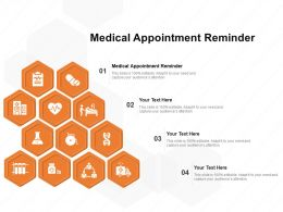 Medical Appointment Reminder Ppt Powerpoint Presentation Inspiration Graphics