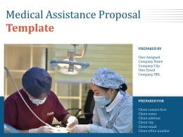 Medical Assistance Proposal Template Powerpoint Presentation Slides