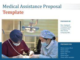 Medical Assistance Proposal Template Powerpoint Presentation Slides