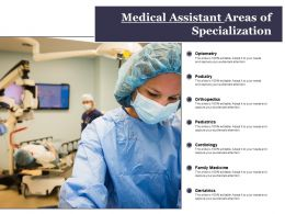 Medical Assistant Areas Of Specialization