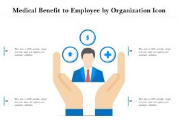 Medical Benefit To Employee By Organization Icon