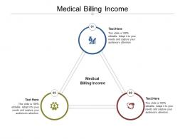 Medical Billing Income Ppt Powerpoint Presentation Portfolio Visual Aids Cpb