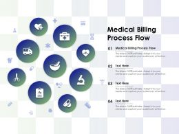 Medical Billing Process Flow Ppt Powerpoint Presentation Professional Smartart