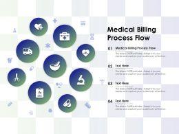 Medical Billing Process Flow Ppt Powerpoint Presentation Professional Smartart