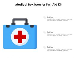 Medical Box Icon For First Aid Kit