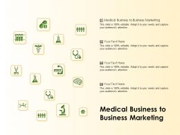 Medical Business To Business Marketing Ppt Powerpoint Presentation Gallery Good
