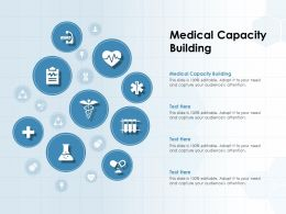 Medical Capacity Building Ppt Powerpoint Presentation Icon Maker