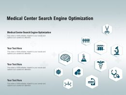 Medical Center Search Engine Optimization Ppt Powerpoint Presentation Portfolio Picture