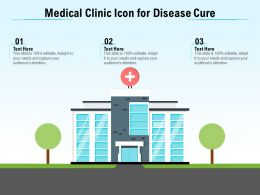 Medical Clinic Icon For Disease Cure
