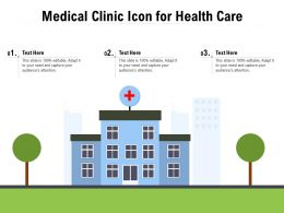 Medical Clinic Icon For Health Care