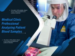 Medical Clinic Professional Analyzing Patient Blood Samples