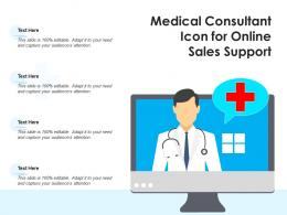 Medical Consultant Icon For Online Sales Support