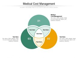 Medical Cost Management Ppt Powerpoint Presentation Gallery File Formats Cpb