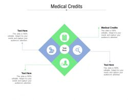Medical Credits Ppt Powerpoint Presentation Summary Slides Cpb