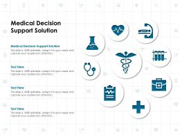 Medical Decision Support Solution Ppt Powerpoint Presentation Outline Background Designs