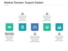 Medical Decision Support System Ppt Powerpoint Presentation Infographic Template Model Cpb