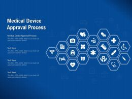 Medical Device Approval Process Ppt Powerpoint Presentation Pictures Brochure