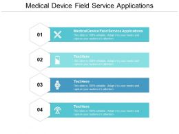 Medical Device Field Service Applications Ppt Powerpoint Presentation Professional Design Cpb