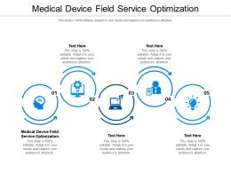 Medical Device Field Service Optimization Ppt Powerpoint Presentation Infographics Cpb
