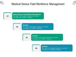 Medical Device Field Workforce Management Ppt Powerpoint Presentation Inspiration Example Cpb