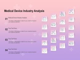 Medical Device Industry Analysis Ppt Powerpoint Presentation Icon Deck