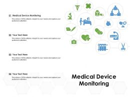 Medical Device Monitoring Ppt Powerpoint Presentation Model Format