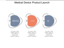 Medical Device Product Launch Ppt Powerpoint Presentation Pictures Slide Portrait Cpb