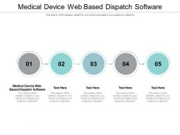 Medical Device Web Based Dispatch Software Ppt Powerpoint Presentation Show Graphics Design Cpb