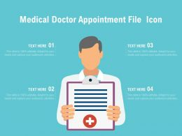 Medical Doctor Appointment File Icon