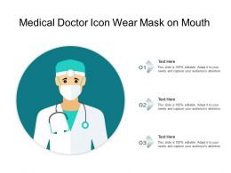 Medical Doctor Icon Wear Mask On Mouth